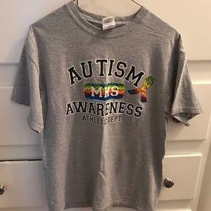 Gray Autism Awareness Shirt Sleeve Shirt